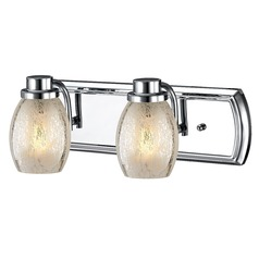Industrial Mercury Glass 2-Light Bath Vanity Light in Chrome