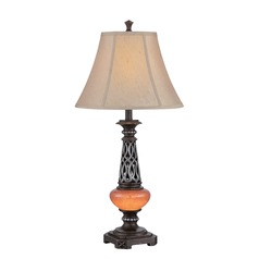 Lite Source Ellis Dark Bronze Table Lamp with Bell Shade