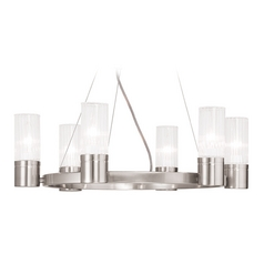 Livex Lighting Midtown Brushed Nickel Chandelier