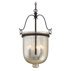 Quoizel Lighting Burgess Rustic Black Pendant Light with Bowl / Dome Shade