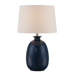 Lite Source Valora Jade Ceramic Table Lamp with Drum Shade