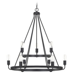 Homeplace By Capital Lighting Tanner Matte Black Chandelier