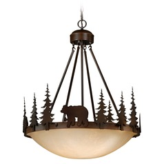 Bozeman Burnished Bronze Pendant Light with Bowl / Dome Shade by Vaxcel Lighting