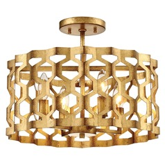 Coronade Pandora Gold Leaf Semi-Flushmount Light