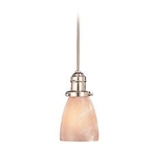 Hudson Valley Lighting Mini-Pendant Light with Brown Glass 3102-SN-348AR