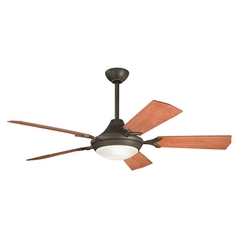 Kichler Ceiling Fan with Light Kit in Bronze Finish