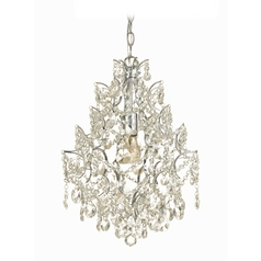 Swag Chandelier with Clear Crystal Teardrops