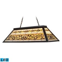 Elk Lighting Tiffany Buckingham Tiffany Bronze LED Billiard Light with Rectangle Shade