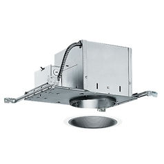 Juno Lighting 6-inch Recessed Lighting Kit with Black Trim IC2/25B-WH