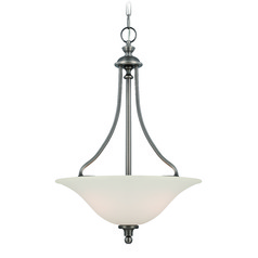 Jeremiah Willow Park Antique Nickel Pendant Light with Bowl / Dome Shade