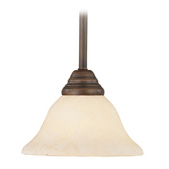 Livex Lighting Coronado Imperial Bronze Mini-Pendant Light with Bell Shade