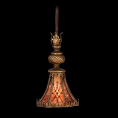 Fine Art Lamps Villa 1919 Umber with Gilded Accents Mini-Pendant Light with Bell Shade