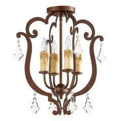 Quorum Lighting Montgomery Vintage Copper Semi-Flushmount Light