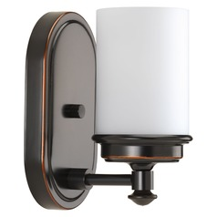 Glide Rubbed Bronze Sconce