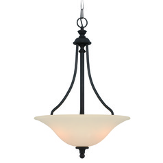 Jeremiah Willow Park Gothic Bronze Pendant Light with Bowl / Dome Shade