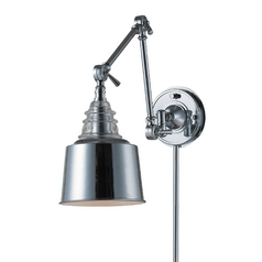 Swing Arm Lamp in Polished Chrome Finish