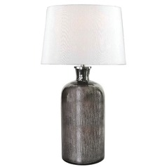 Kenroy Home Lighting Asher Acid Mercury Glass Table Lamp with Drum Shade