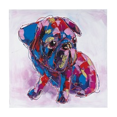 Bold Puppy I - Oversized Oil On Canvas