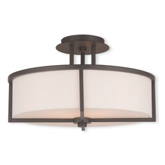 Livex Lighting Wesley Bronze Semi-Flushmount Light