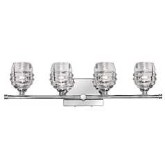 Modern Chrome LED Bathroom Light with Clear Shade 3000K 1600LM