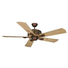 Log Cabin Weathered Patina Ceiling Fan Without Light by Vaxcel Lighting