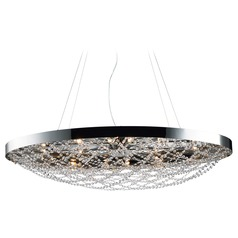 Maxim Lighting Lace Polished Nickel Pendant Light with Bowl / Dome Shade
