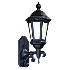 Frosted Seeded Glass Outdoor Wall Light Black Troy Lighting