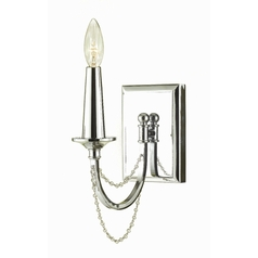 Sconce Wall Light in Chrome Finish