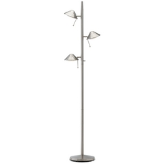 Design Classics Lighting Adjustable Tree Lamp with Three Lights JF-885 SATIN NICKEL