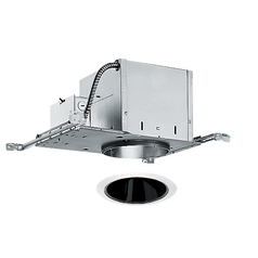 6-inch Recessed Lighting Kit with Black Alzak Trim