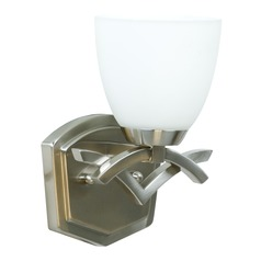 Jeremiah Viewpoint Brushed Satin Nickel Sconce