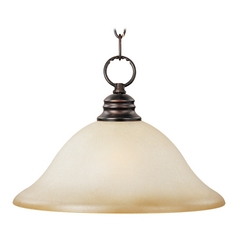 Maxim Lighting Essentials Oil Rubbed Bronze Pendant Light with Bell Shade