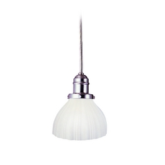 Hudson Valley Lighting Mini-Pendant Light with White Glass 3102-SN-444