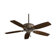 54-Inch Ceiling Fan Without Light in Iron Finish