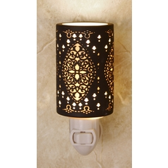 Porcelain Garden Lighting Night Light with Black Porcelain Shade NS02