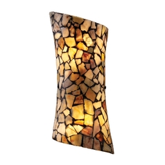 Sconce with Tiffany Glass in Dark Rust Finish