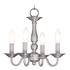 Livex Lighting Williamsburg Brushed Nickel Mini-Chandelier