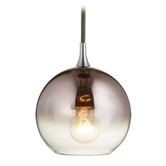 Quorum Lighting Gunmetal Mini-Pendant Light with Globe Shade