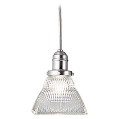 Prismatic Glass Mini-Pendant Light Satin Nickel Hudson Valley Lighting
