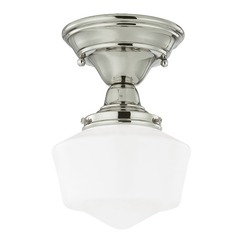 6-Inch Schoolhouse Semi-Flushmount Ceiling Light