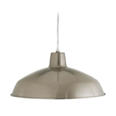 Farmhouse Barn Light Brushed Nickel  by Progress Lighting