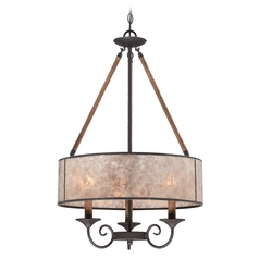 Quoizel Bandelier Imperial Bronze Pendant Light with Drum Shade