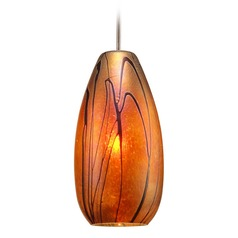 WAC Lighting Willow Chrome LED Mini-Pendant Light with Oblong Shade
