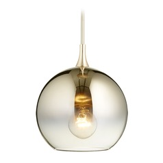 Quorum Lighting Satin Gold Mini-Pendant Light with Globe Shade