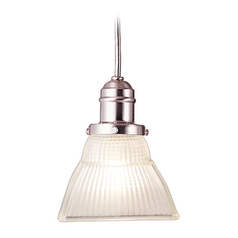 Hudson Valley Lighting Mini-Pendant Light with White Glass 3102-SN-45F