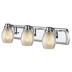 Industrial Mercury Glass 3-Light Bath Vanity Light in Chrome