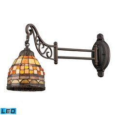 Elk Lighting Mix-N-Match Tiffany Bronze LED Swing Arm Lamp