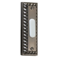 Quorum Lighting Antique Silver Doorbell Button