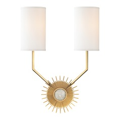 Hudson Valley Lighting Borland Aged Brass Sconce