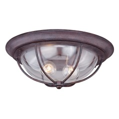 Dockside Weathered Patina Outdoor Ceiling Light by Vaxcel Lighting